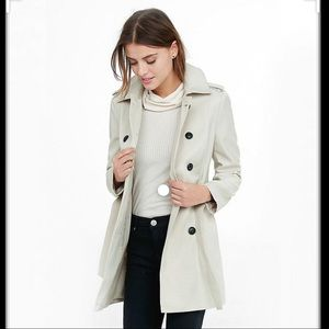 Express Light Brown Trench Coat